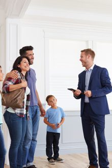 Working with real estate agent